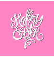 Happy Easter inspirational quote handwritten with vector image