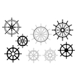 Nautical ships wheels vector image