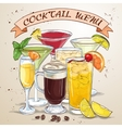 New Era Drinks Coctail menu vector image