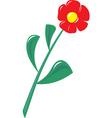 Plastic flower vector image