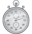 Silver stopwatch vector image