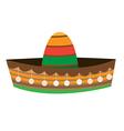 Sombrero Hat mexican hat vector image