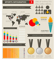 Sport infographic elements vector image