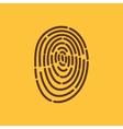 The fingerprint icon ID symbol Flat vector image
