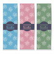 Set Of Three Vertical Banners Rose Graphic vector image vector image