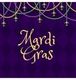 Mardi gras purple background vector image