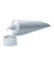 toothpaste tube vector image vector image