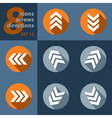 set of eight arrows in all directions vector image