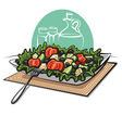 fresh greek vegetable salad vector image