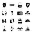 Safety icons set simple style vector image