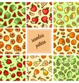 food patterns collection vector image vector image