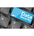 data security word with icon on keyboard button vector image