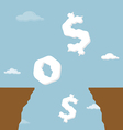 Business SOS signal from the abyss vector image