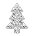 Christmas tree in zentangle style vector image