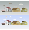 Countryside with houses vector image
