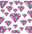elegant diamonds pattern isolated icon vector image
