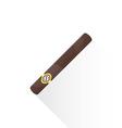 flat cuban cigar icon vector image