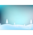 Merry Christmas Landscape EPS10 vector image