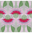 Seamless pattern with decorative burdock vector image