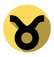 taurus sign flat black icon vector image