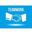 Teamwork shaking hands design concept vector image