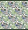 zen art floral pattern zentangle coloring page vector image
