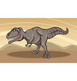 cartoon of tyrannosaurus dinosaur vector image