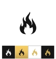 Fire sign flammable wildfire or hot icon vector image vector image