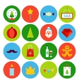 Flat Merry Christmas Icons vector image