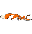 creeping fox vector image