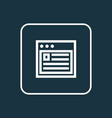 web outline symbol premium quality isolated vector image