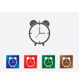 Alarm clock icons vector image vector image