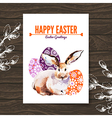 Easter card Sketch watercolor vector image vector image