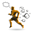 Sports man running vector image