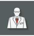businessman in suit and red tie avatar vector image