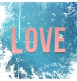 Realistic pink paper Love Word on Snow and Ice vector image
