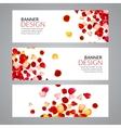 Rose Petals wedding love banners vector image