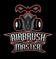 airbrush master logo vector image