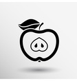 apple element logo nature food vector image