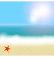 Beautiful summer background with beach sea sun and vector image