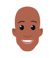 Cartoon African-american male face vector image