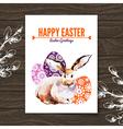Easter card Sketch watercolor vector image