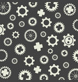 gearss pattern gray background vector image