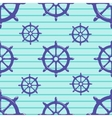 Seamless pattern with steering wheel on striped vector image