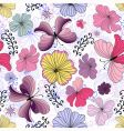 white seamless floral pattern vector image