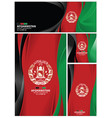 abstract afghanistan flag background vector image