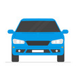 car isolated automobile in white background vector image vector image