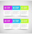 Modern infographic template Flat styled vector image vector image