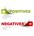 pros and cons compare template vector image vector image