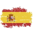 Spanish grunge flag vector image